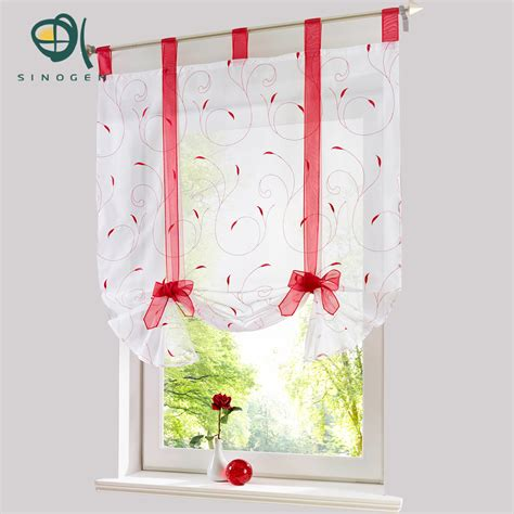 Floral Design Curtains Sinogem Curtain New Design Floral Embroidered Sheer Window Curtain For Kitchen Living Room