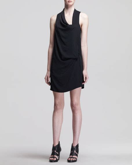 drape wrap dress helmut lang solar drape wrap dress