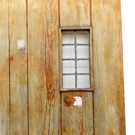 Salvaged 36 Exterior Plank Door With Window Ned141 For Salvaged Exterior Doors