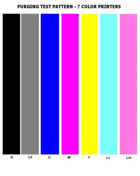6 Colour Printer Test Page