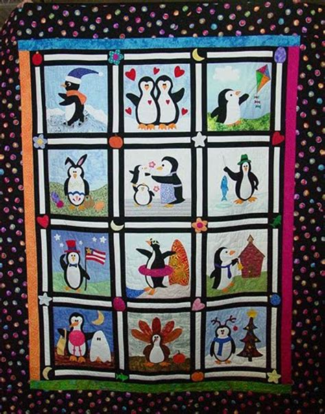 Penguin Quilt Pattern by In Pittsburgh Nqa Quilt Show