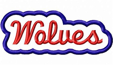 embroidery design with name applique wolves team name machine embroidery design