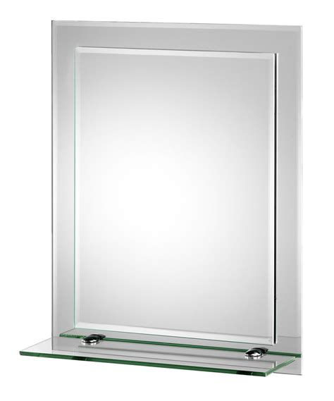 Bathroom Mirror Glass Croydex Rydal Rectangular Layer Mirror With Shelf Mm700800
