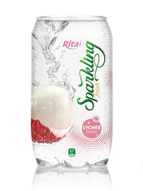 lychee martini bottle oem sparking lychee juice drink in 350ml pet can private
