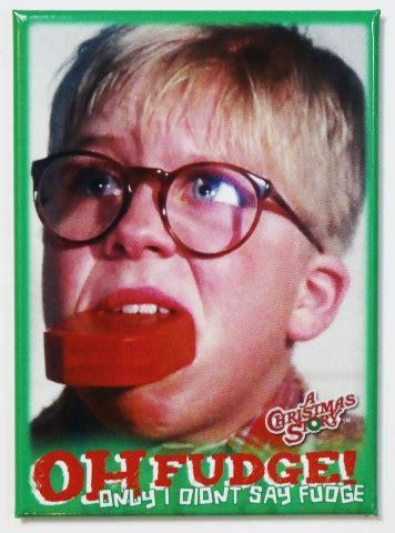 christmas story  fudge fridge magnet ralph parker