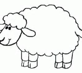 sheep template printable free sheep template for preschool coloring europe