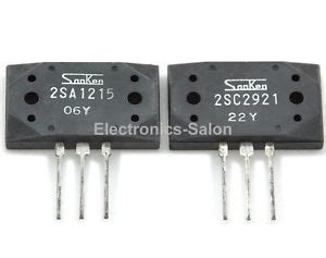 high voltage audio transistor 1x 2sa1215 1x 2sc2921 sanken high power audio transistors ebay
