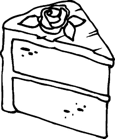 free coloring page of a cake free coloring pages of cake slice
