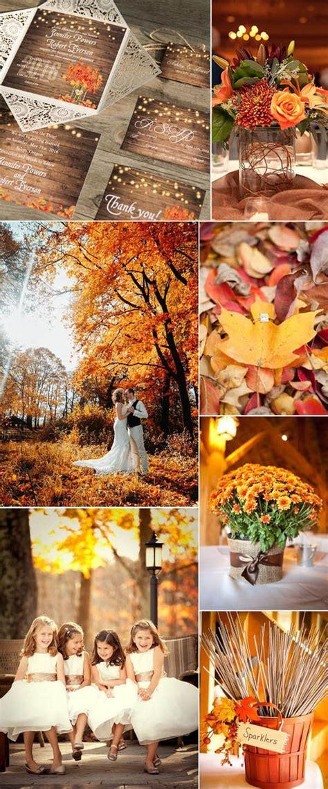 fall leaves wedding decorations autumn colour scheme orange chwv