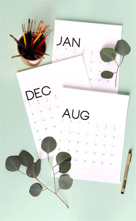 fun  printable calendars    organized