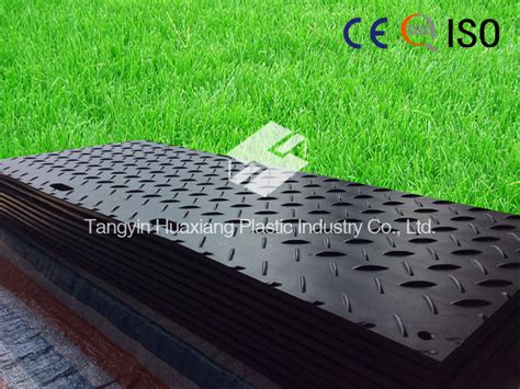 bearing 100 tons hdpe ground mat with sgs certification