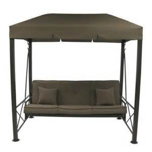 Patio furniture further 3 person patio swing with gazebo top cover on