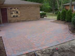 brick patio designs casual cottage