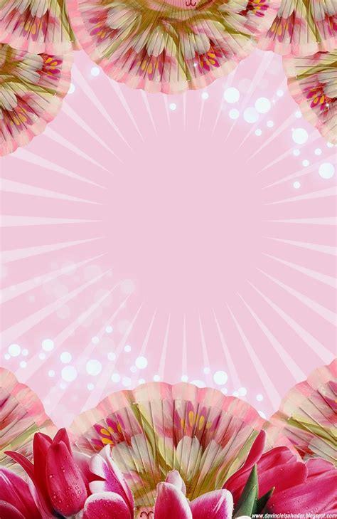 imagenes de flores para xv años tarjeta de invitaci 243 n gratis 15 a 241 os flores y tulipanes