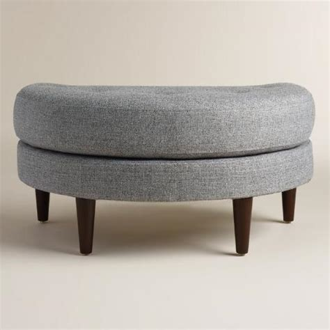 half moon shaped ottoman gray seren half moon ottoman world market