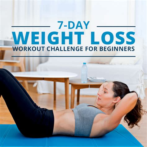 challenges to lose weight 7 day weight loss workout challenges
