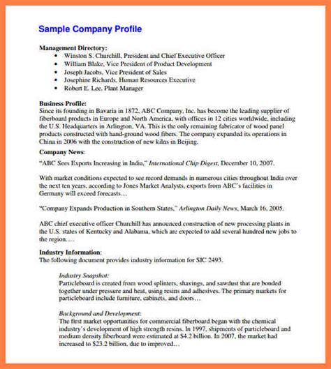 company profile template pdf 6 sle company profiles pdf company letterhead