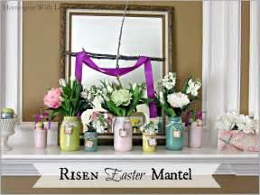 homespun with love risen easter mantel
