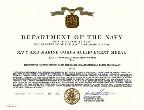 usmc certificate of commendation template certificate of commendation usmc template pchscottcounty
