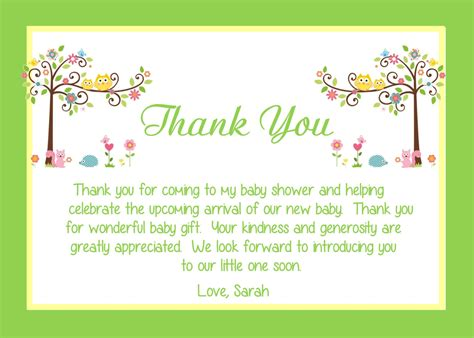 Thank You Note For Office Baby Shower by Tips To Create Baby Shower Thank You Notes Invitations