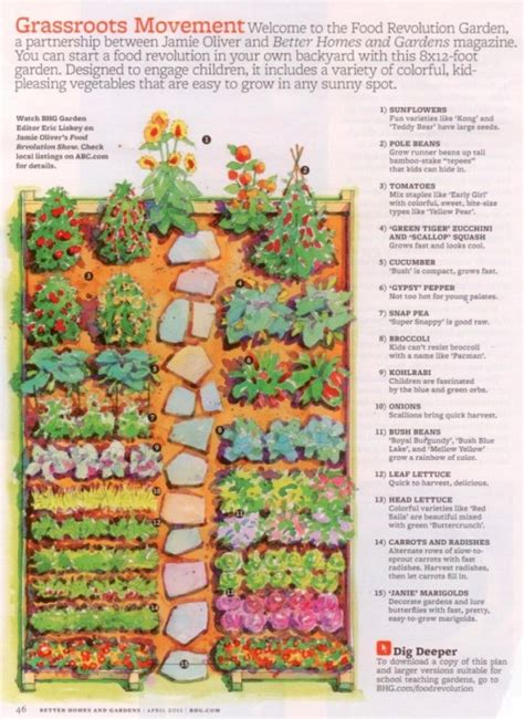 a backyard vegetable garden plan for an 8 x 12