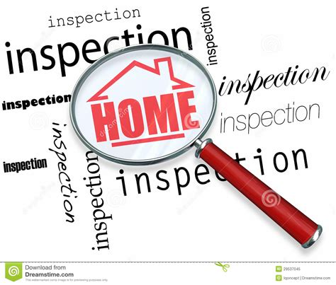 home inspection magnifying glass royalty free stock