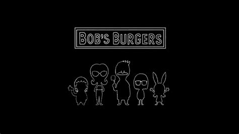 cool black  white minimalist wallpaper  bobs burger