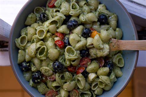 pasta salad pesto pesto pasta salad recipe dishmaps
