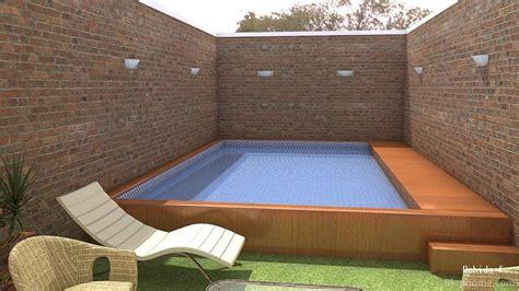 patio interior pequeño decoracion patio con piscina pequea pequea terraza con hortalizas y