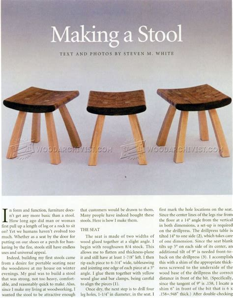 Small Wood Stool Plans by Small Stool Plans Woodarchivist