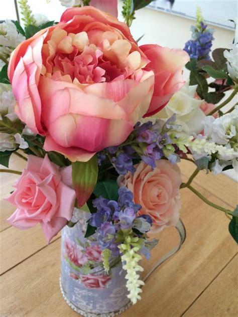 Artificial Shabby Roses large shabby chic peony physostegia