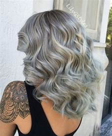 mid length grey hair 50 most magnetizing hairstyles for thick wavy hair