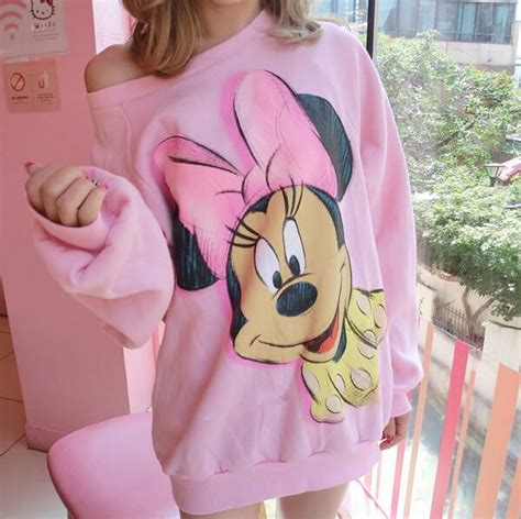 Mickey Pink Sweater T3009 2 Cheap New Pink Mickey Minnie Mouse Sweater