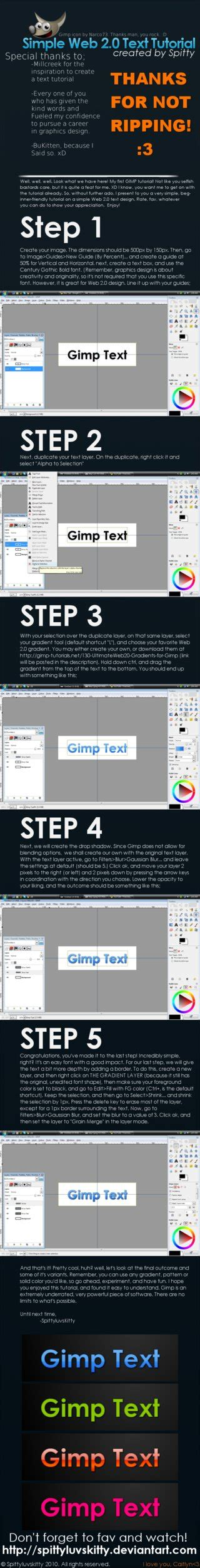 website gimp tutorial gimp web 2 0 text tutorial by spittyluvskitty on deviantart