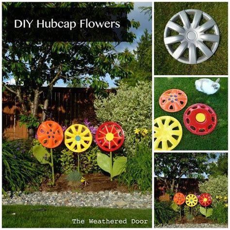 Creative Ideas Diy Hubcap Flower Garden Decor Flower Garden Decorations