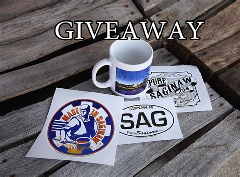 Sticker Giveaway - pure saginaw mug and sticker giveaway