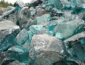 Glass Rock Landscape Clear Colored Cobalt Blue Slag Glass Rocks For