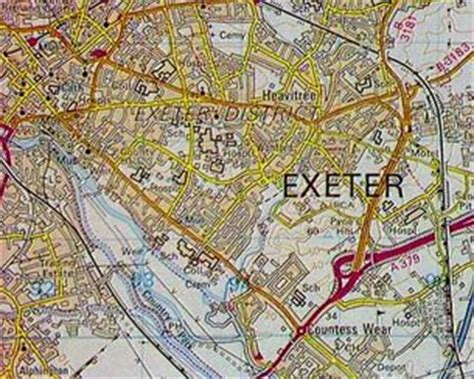 printable area old os bbc domesday reloaded an aerial view of exeter from 1986