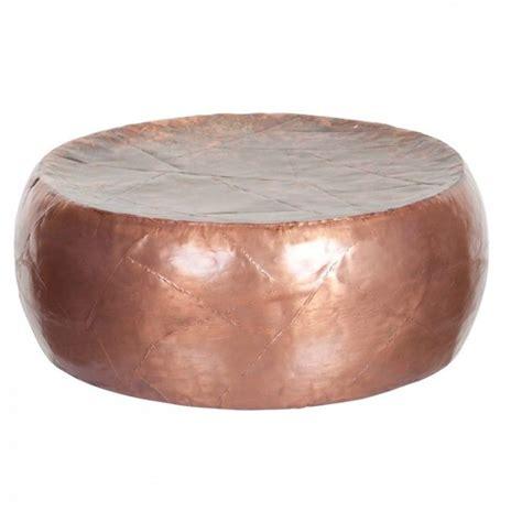 salontafel rond koper bijzettafeltje metaal rond koperkleur salontafel