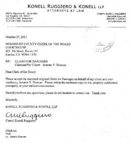 Claims Attorney Cover Letter by Claim Against Da Alleges Corruption Discrimination Harassment May 8 2012 The Arcata Eye