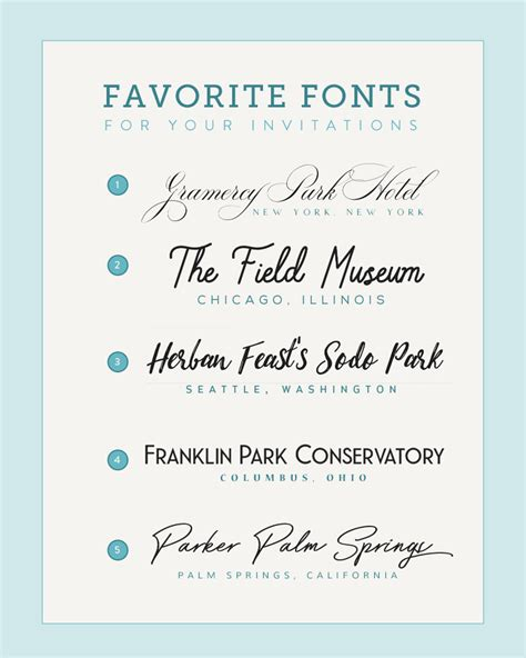 Wedding Invitation Font Pairing by Five Font Pairings Inspired By Wedding Venues