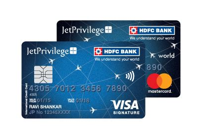 Credit Card Form Of Hdfc Bank Jetprivilege Hdfc Bank World The Best Airline Co Brand Card By Hdfc Bank