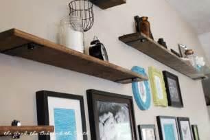 Large Wall Bookshelves Diy Rustic Industrial Shelves Living Room Gallery Wall