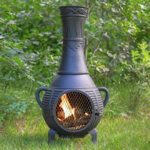 Decorative Chiminea The Blue Rooster Pine Style Cast Aluminum Chiminea Gold