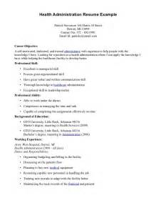 cover letter exle administration resume for administrator