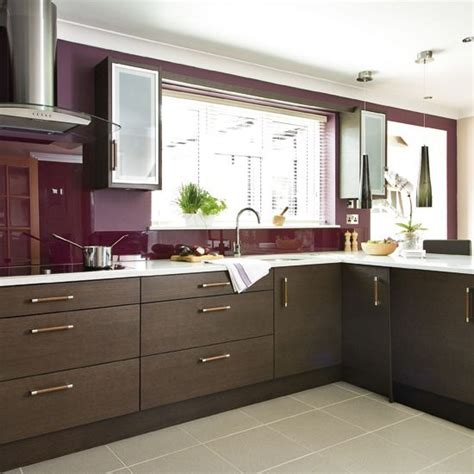 modern kitchen and interior design with red decorating 1000 images about brown kitchen walls on pinterest dark