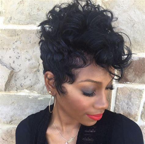 curling pixie cut on black women 19 cute wavy curly pixie cuts we love pixie haircuts