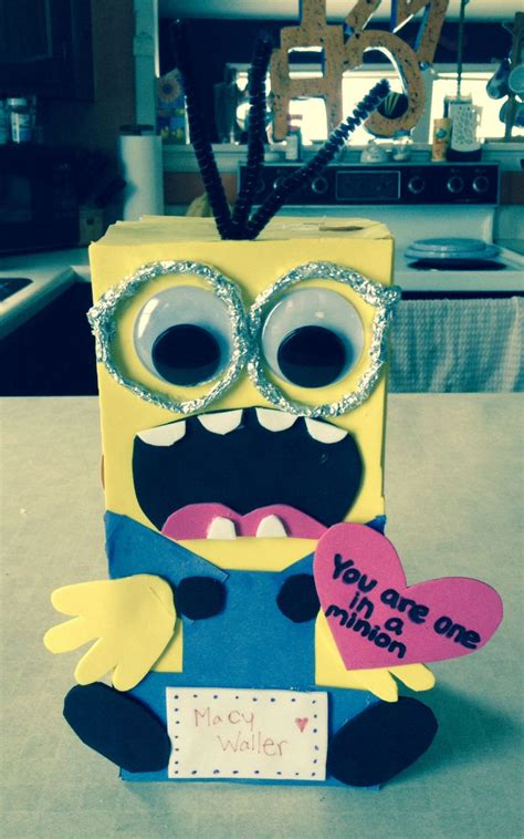 how to make a minion valentines day box minion box my projects