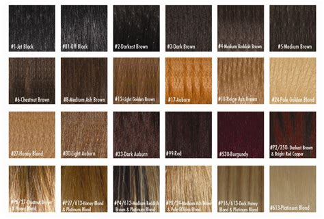 hair expression colour charts synthetic hair extension 16 inch