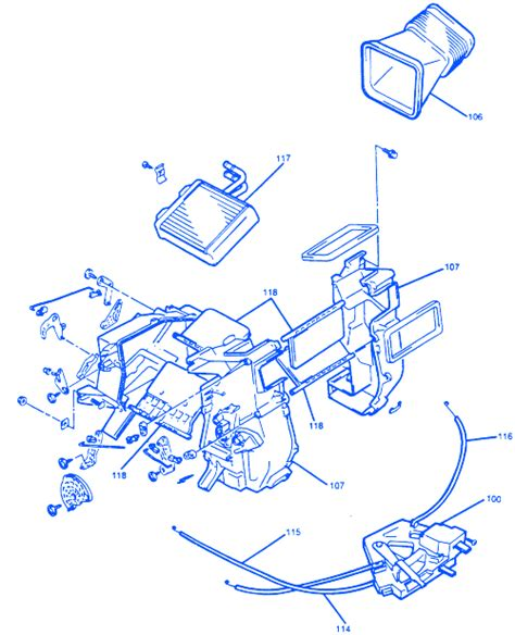 chevrolet tracker  steering column electrical circuit wiring diagram carfusebox